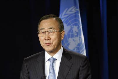 جناب آقای بان کی مون دبیر کل محترم سازمان ملل