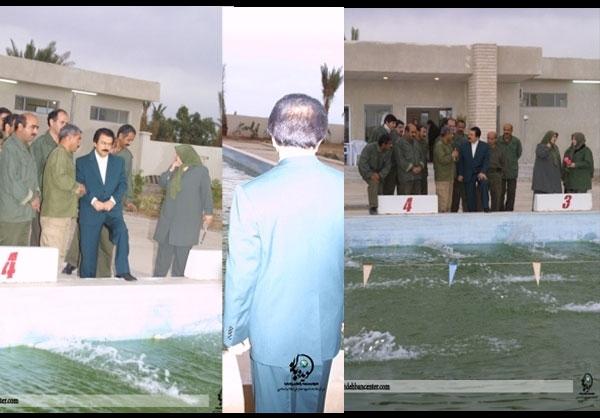 تصاویر منتشرنشده از اردوگاه منافقین (استخر اجباری )
