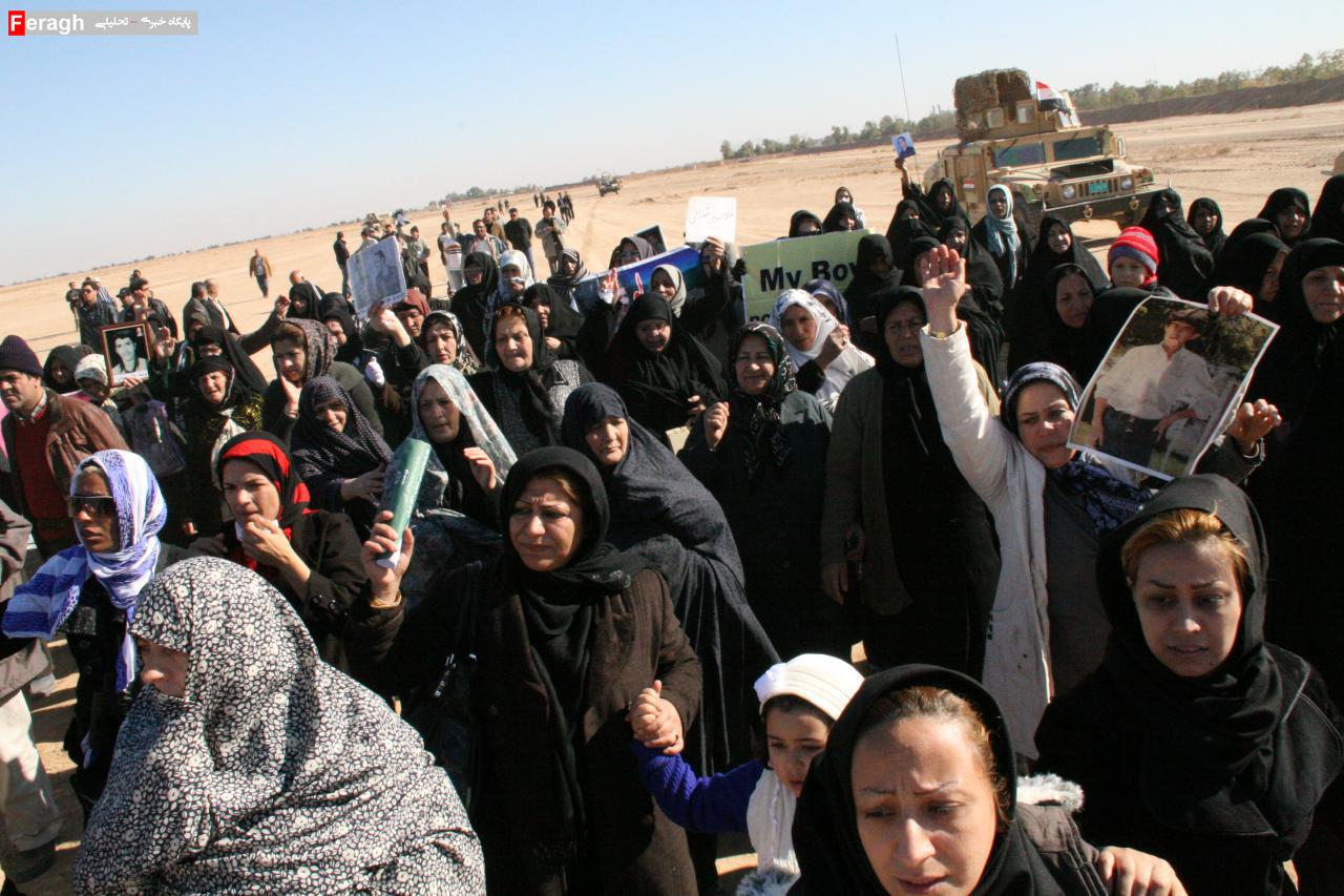 جمعی از مادران اسیران فرقه رجوی در استان مرکزی خطاب به مریم رجوی: دل ما مادران خون است / فرزندان ما را تبدیل به یک چوب خشک کردی