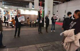 ۴ نخاله رجوی از نمایشگاه کتاب فرانکفورت بیرون شدند
